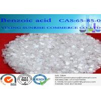 C6H5COOH Chemistry Intermediate White Acicular Benzoic Acid Crystals CAS 65-85-0