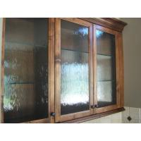 Impact Resistance Tempered Glass Panel Obscure Pattern For Store Cabinet Manufactures