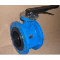 China Hand Operated Ductile Iron Flanged Butterfly Valves For Potable Water on sale