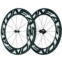 700C Carbon Fiber Bike Wheels Customized Logo 88mm With 125kg Max Rider Weight Manufactures