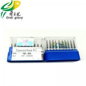 China All Size Dental Diamond Burs , Efficient FG High Speed Dental Burs on sale