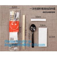 High quality New designed Cheap Disposable Plastic cutlery Sets(plastic knife spoon fork packs) chopsticks,cutlery set,