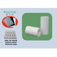 White Printing PP Sheet Roll apply to Slap-up Elctronics Packages at 1.5 mm TH Manufactures