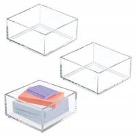 Quality Customized Clear Lucite 4x6 Acrylic Brochure Holders / Paper Sticky Note Pad for sale
