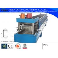 Quality Cold / Hot Steel C Purlin Roll Forming Machine By Chain Transmission for sale