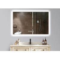 China Dimmable Anti Fog LED Illuminated Bathroom Mirror With Demister 600 X 900mm Size on sale