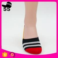 2017 Yiwu  69% Cotton 25 % polyester 6%Spandex Jacquard Knitting Custom Cotton Striped Men Invisible Winter Boat Socks Manufactures