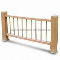 WPC Outdoor Railing Fence, Easy to Install and Clean, 100% Recyclable Manufactures