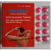 Cheap Western Medicine Ibuprofen Coated or Film Coated Tablets BP 400mg Antipyretic and analgesic drugs for sale