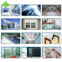 China 3 4 5 6mm Clear Tempered Glass Panels Flat / Curved Shaped With High Safety on sale