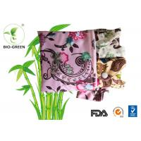 Flower Charcoal Bamboo Mama Cloth , Comfortable Gentle Bamboo Sanitary Pads Manufactures