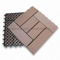 WPC Flooring, WPC Composite Deck Tile, Wood Look, Anti-UV Agent, Measuring 310 x 310 x 21mm Manufactures