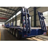 Four Axles Lowbed Semi Truck And Trailer With ISO / 3C / BV / IFA / SGS Certification Manufactures