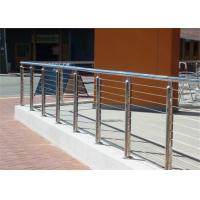 DIY Wire Rope Stainless Steel Stair Balustrade Outdoor / Indoor With SS Wire Ropes Manufactures