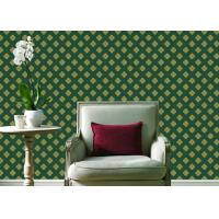 Cheap Embossed Pvc Contemporary Wall Coverings , Four Leaf Home Floral Wallpaper For Walls for sale