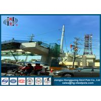 Anti - Rust Electric Power Poles , Commercial Light Poles For Distribution Line Manufactures