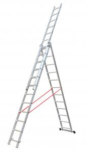 Silver 3x10 6.53m Collapsible Aluminium Ladder Manufactures
