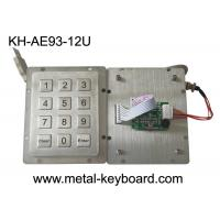 Rear Panel Mount Access Control Keypad USB Connector 12 Flat Buttons CE Approval Manufactures