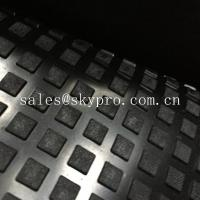 Buy cheap Solid Square Heavy Duty Rubber Mat With Water Proof Black Color Emboss Top IR from wholesalers