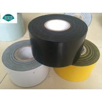 15 Mils To 40 Mils Thick Anti Corrosion Tape , Polyester Tape Black Manufactures