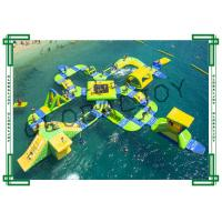 65 Person Inflatable Water Course , Commercial Inflatable Water World