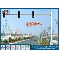 Traffic Lighting Steel Tubular Pole with Single Arm for Traffic Industry