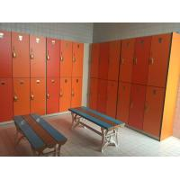 PVC Material Double Tier Lockers , Orange Small Employee Lockers For Factory Manufactures