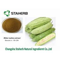China Yellow Brown Powder Charantin Raw Materials / Bitter Melon Extract For Losing Weight on sale
