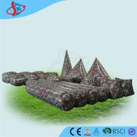 PVC Inflatable Camouflage Obstacle 23pcs , Obstacle Game , Inflatable Sports Games Manufactures