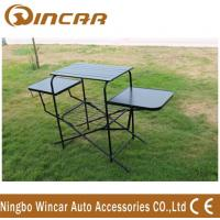 PVC polyester Outdoor Camping Tables , Black / Sliver Portable Grill Barbecue Table Manufactures