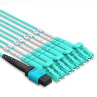 MPO To LC OM4 40G MultiMode Patch Cord 3 Meter 12 Core Mpo Fiber Optic Patch Cable Multimode Manufactures