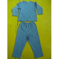 Solid Colors Children'S Cotton Pajamas Simple Boys Two Piece Pajamas Lightweight Manufactures
