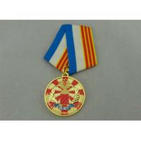 Die Casting Zinc Alloy Custom Medal Awards With Soft Enamel Gold Plating