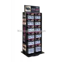 China Advertising Table Top Metal Acrylic Eyelash Display Stand Rotating For Beauty Product on sale