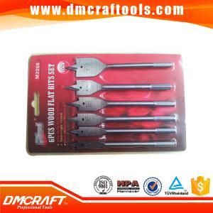 China 6pcs High Carbon Steel flat wood drill bits set on sale