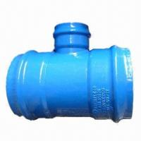 Equal tee, DN 400 x 200, All socket for PVC Manufactures