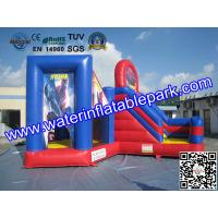 Red Blue Commercial Outdoor Inflatable Spiderman Jumper Combo Durable Manufactures
