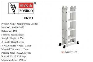 EN131 4x4 4.75m Folding Aluminium Scaffold Tower Manufactures