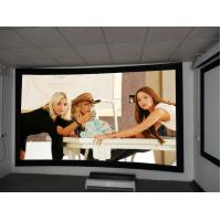 Cheap 8cm Frame Curved Projection Screens With Black Velvet / 3D Screen Projector for sale