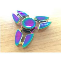 Cheap Beautiful Alloy 3 Leaves Hand Spinner Fidget Toy Addictive Fidget Toys for sale