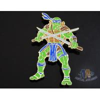 Custom Logo Ninja Turtle Zinc Alloy Metal Lapel Pin Bages, Cut Out Stye Shiny Gold Plating With Rupper Manufactures
