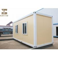 China Yellow Prefabricated Container House , Shipping Container Prefab For Temporary House on sale