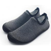 Foldable Unisex Pvc Sole Shoes Soft Scuba Knitting Fabric Direct Injection Manufactures