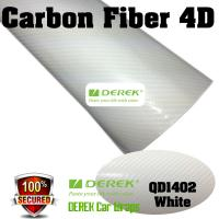 4D Glossy & Shiney Carbon Fiber Vinyl Wrapping Films--White Manufactures