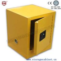 4-gallon Flammable Chemical Storage Cabinets Yellow Powder Coated For Bench Top