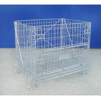 High Strength Industrial Wire Container 72KG Wire Mesh Pallet Cages Manufactures