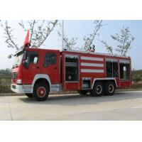 Compact Structure Emergency Fire Engine Vehicles / Firefighter Trucks Manufactures