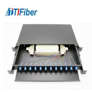 Light Structure Fiber Optic Connection Box , Fiber Optic Patch Box 12 Cores 1U Manufactures