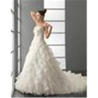 China Ball Gown Strapless Chapel Train Wedding Dressing Gowns / Bridal Gown with Beadings on sale
