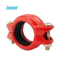 Grooved Rigid/Flexible Coupling Fire Fighting Grooved Fittings DN50 - DN200 Ductile Iron Pipe Fittings Manufactures